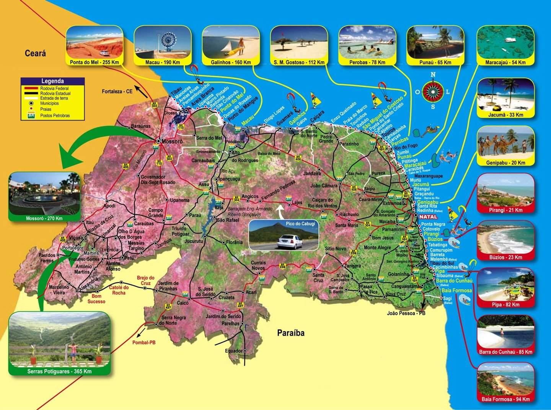 Mapa do Estado do RN